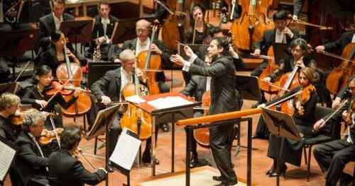 Music Director Designate Andres Orozco-Estrada leading the Houston Symphony. Orozco-Estrada's inaugural season as Music Director begins with the 2014 - 2015 season.
