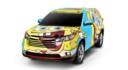 Toyota SpongeBob Car for Motor City Comic Con