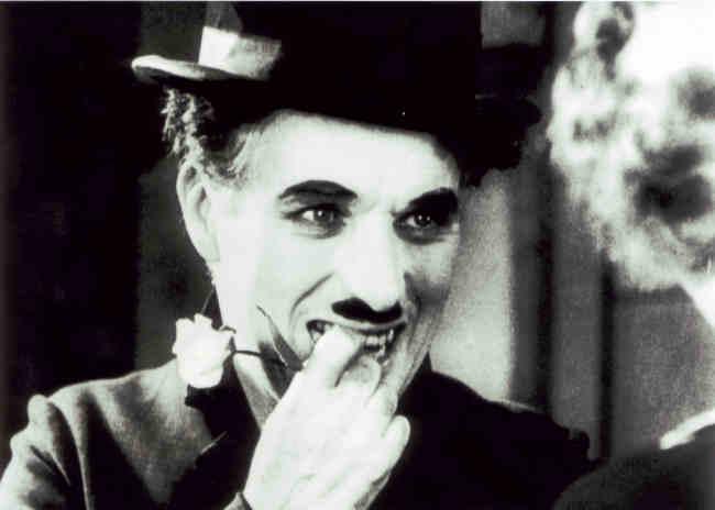 A scene from Charlie Chaplin's City Lights