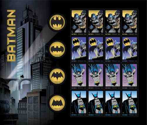 Batman Super Hero Honored by U.S. Postal Service