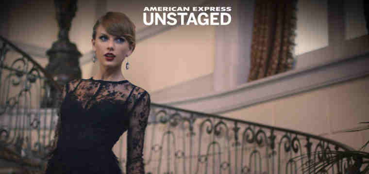 American Express Unstaged Taylor Swift Blank Space Experience App