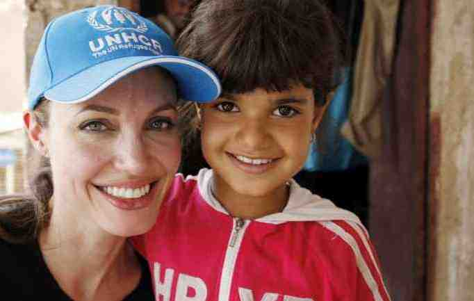 'You need help not because you are poor, but because you are the future of Iraq,' Angelina told one family. UNHCR / B.Heger