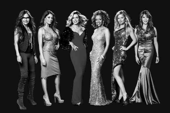 "Vanessa Marcil, Lindsay Hartley, Donna Mills, Chrystee Pharris, Crystal Hunt and Hunter Tylo of ""Queen's of Drama,"""