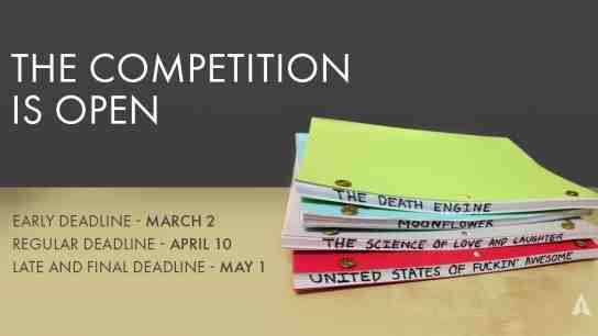 Academy Invites Submissions for Screenwriting Competition