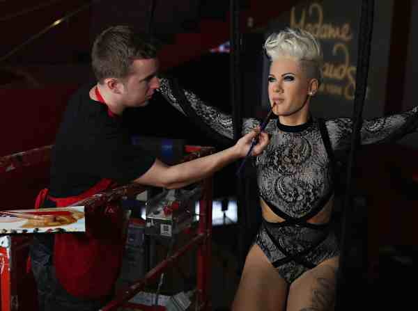Madame Tussauds Unveils Wax Figure of Musician Pink