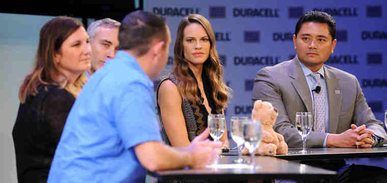 Actress Hilary Swank Honors the Military Children