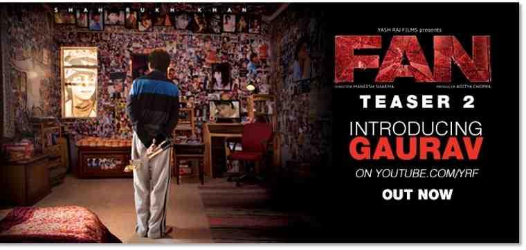 Yash Raj Films Releases New Teaser Trailer for Fan