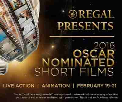 Regal to Screen Oscar Nominated Short Films