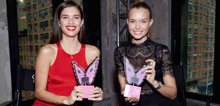 Angels Sara Sampaio and Josephine Skriver celebrate the release of Victoria's Secret Annual What is Sexy? List. (Photo: Victoria's Secret / Andrew Day)