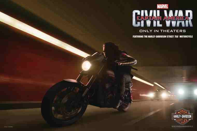 Harley-Davidson Joins Captain America: Civil War