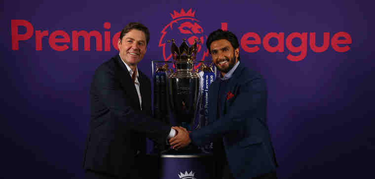 Bollywood Actor Ranveer Singh Partners with the Premier League