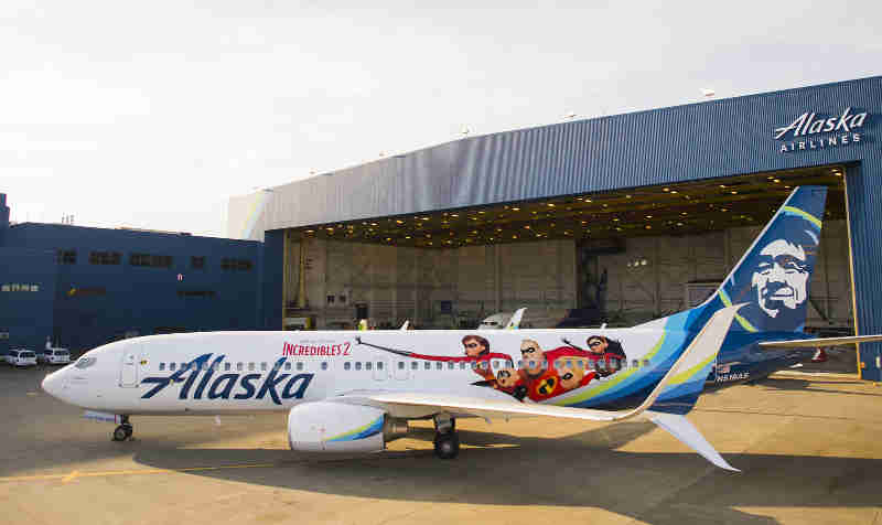 Alaska Airlines Uses Artwork from Disney•Pixar's Incredibles 2