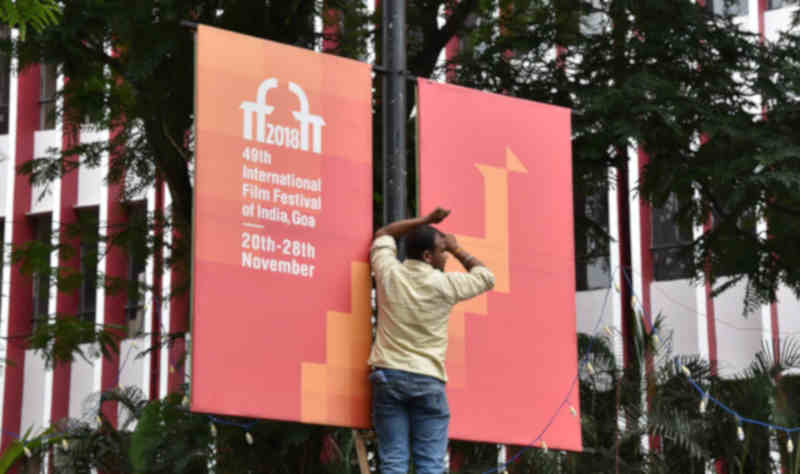 Goa prepares to welcome the 49th International Film Festival of India (IFFI-2018), in Panaji, Goa on November 19, 2018. Photo: PIB