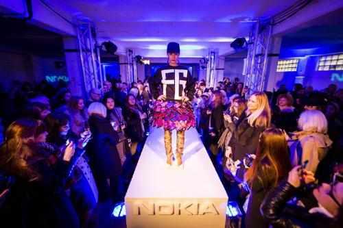 Nokia Interactive Skirt at London Fashion Week