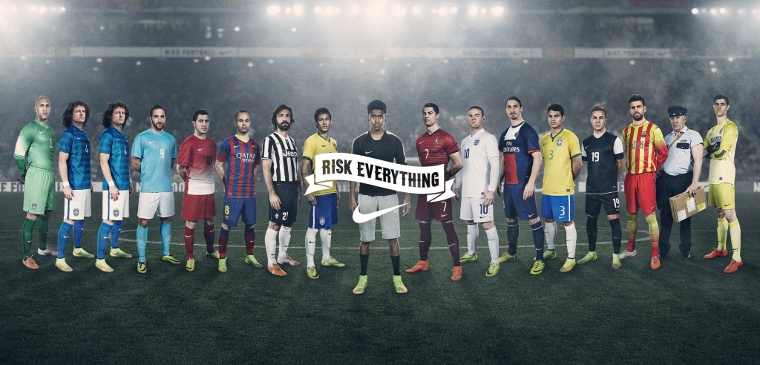 """Nike """"Winner Stays"""" Film in the Risk Everything Football Campaign"""