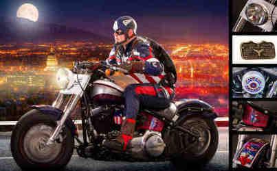 Captain America Motorcycle for Salt Lake Comic Con